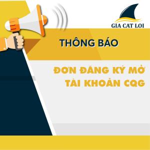 Đăng ký mở tài khoản CQG