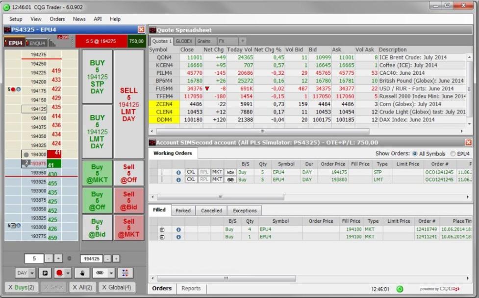 Phần mềm CQG Trader